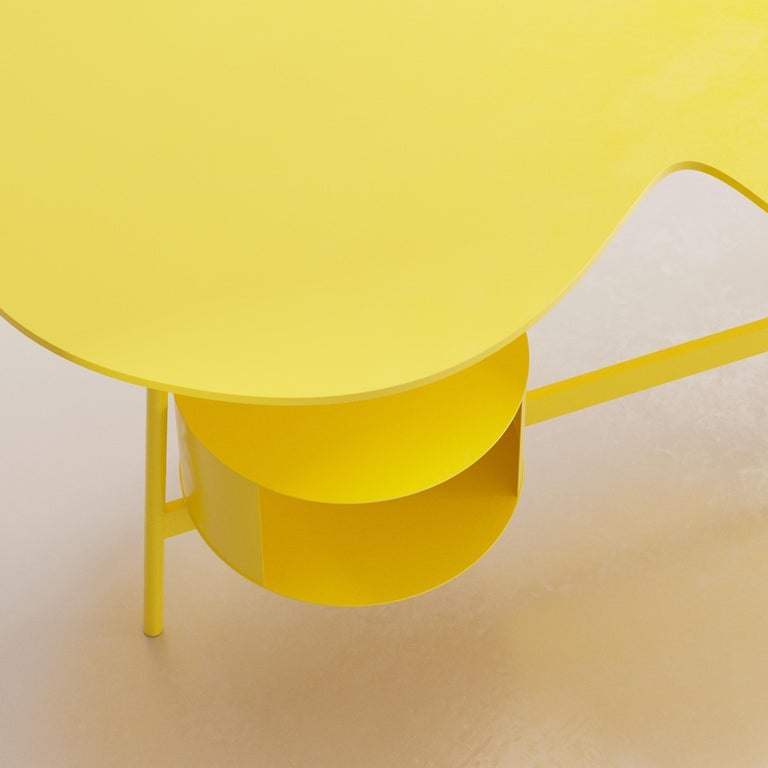 Spanish Cloud Desk Yellow Dreamy Work Table by Reisinger Andres For Sale