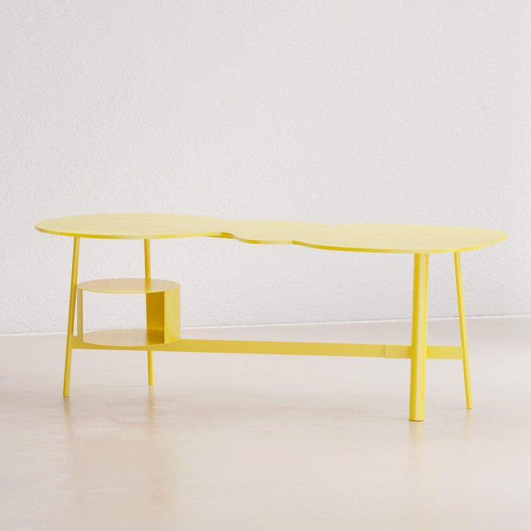 Cloud Desk Yellow Dreamy Work Table by Reisinger Andres In New Condition For Sale In Málaga , ES