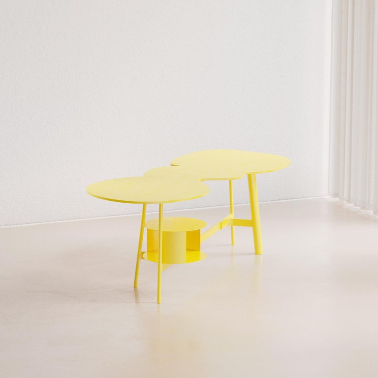 Contemporary Cloud Desk Yellow Dreamy Work Table by Reisinger Andres For Sale