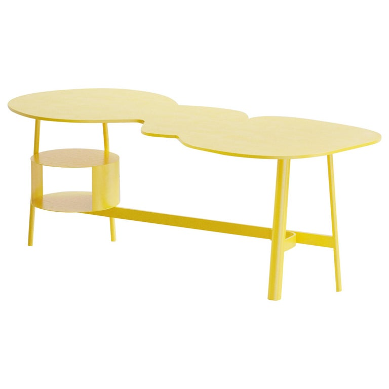Cloud Desk Yellow Dreamy Work Table by Reisinger Andres For Sale