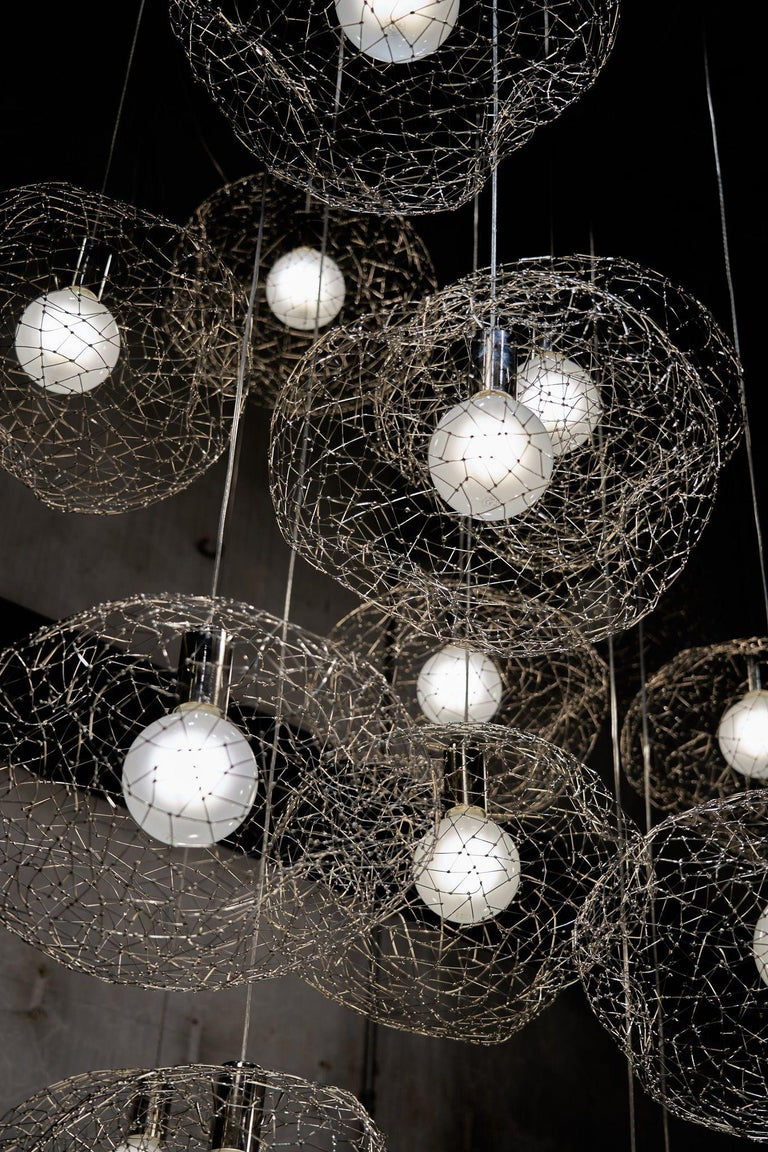 Contemporary Cloud Modern Pendant Light Within the Jewellery Series of Lighting by Ango For Sale