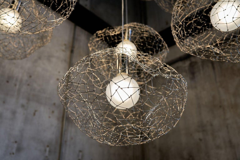 Welded Cloud Modern Pendant Light Within the Jewellery Series of Lighting by Ango For Sale