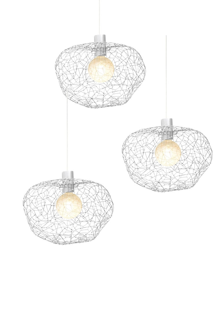 The Cloud design creates lightness and hope and this collection is offered in different sizes, especially so that multi cloud installations can be easily formed that will bring about beautiful multi diffusions of light. Cloud is created in free form