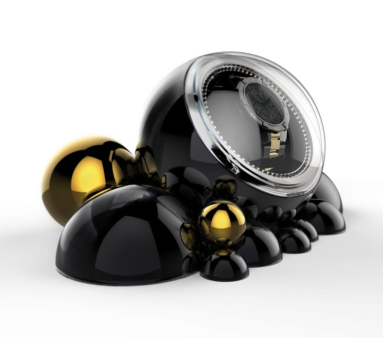Cloud watch winder in lacquered casted aluminium by Boca do Lobo. This unique watch winder reflects fascinating design handcrafted to become an object of desire. The fine mechanisms of valuable automatic watches require movement and relaxation.