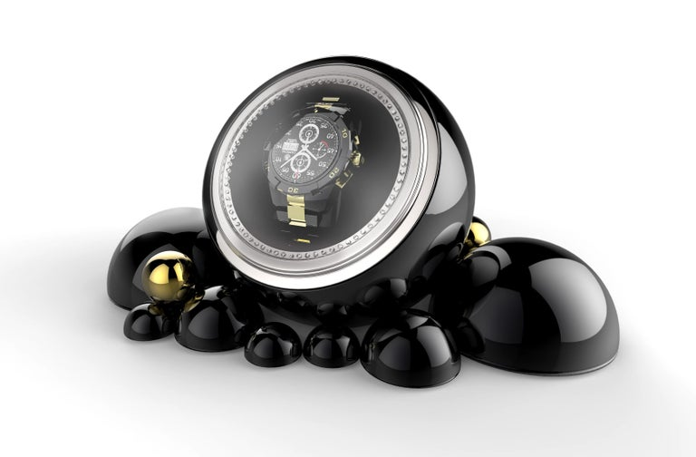 Modern Cloud Watch Winder in Lacquered Casted Aluminium For Sale