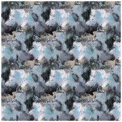 Cloudbusting Wallpaper in Blue by 17 Patterns