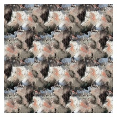 Cloudbusting Wallpaper in Peach by 17 Patterns