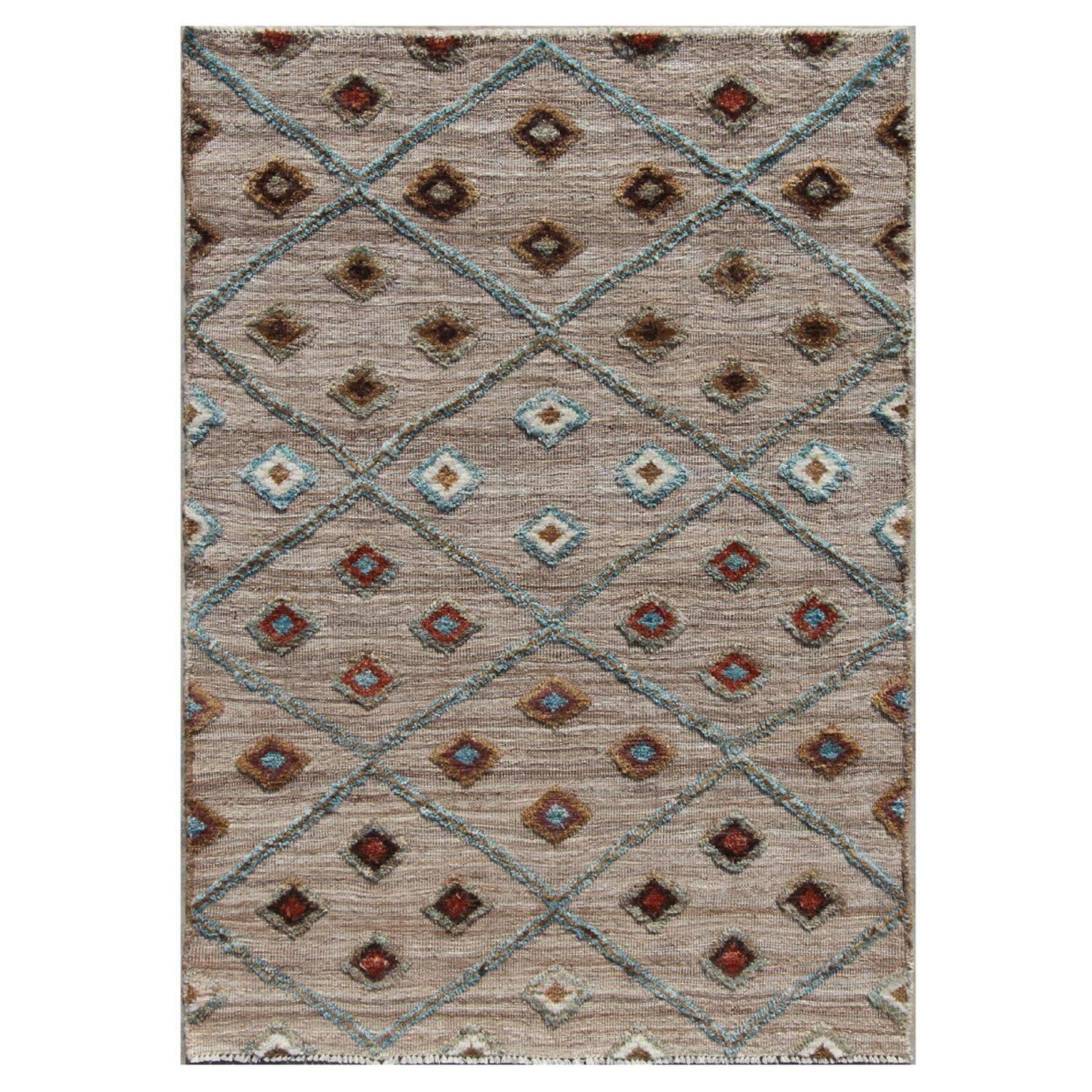 Cloudcroft Neutral/Multi Tufted Wool Hand-Knotted Rug