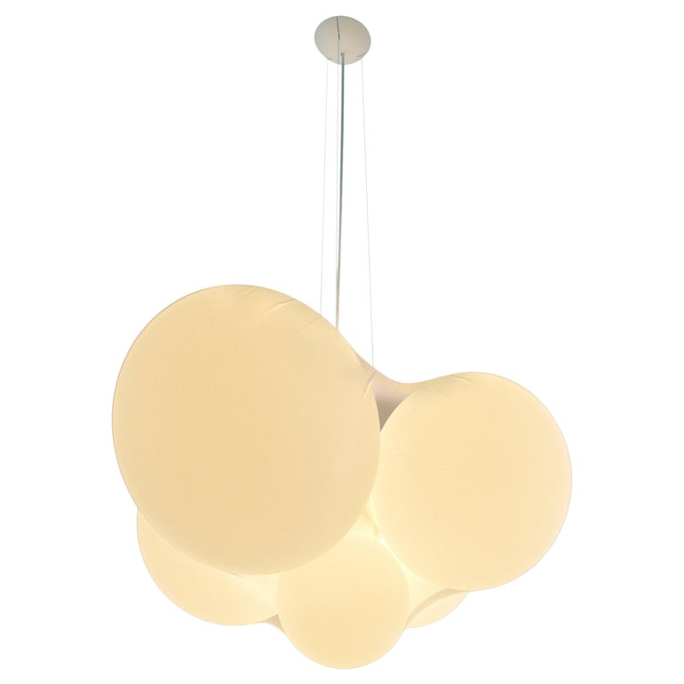 Cloudy Modern Italian High Performance LED Pendant Cluster with Organic Form For Sale