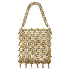 Clover Disk Chain Mail Gold Handbag, 1960's