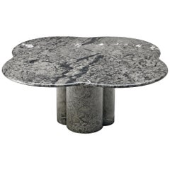 Clover Shaped Coffee Table in Grey Marble