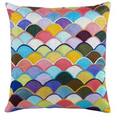 Clovis Colorful Accent Pillow by CuratedKravet