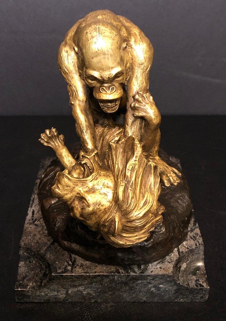 French Clovis Edmond Masson Gorilla in Battle with For Sale
