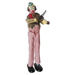"""Clown Playing Violin"" Toy Japanese Wind-Up, Circa 1950's"