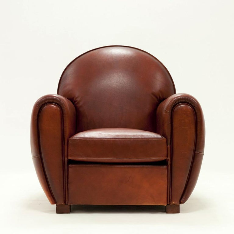 Magnificent Club Armchair With Natural Brown Genuine Leather Spiritservingveterans Wood Chair Design Ideas Spiritservingveteransorg
