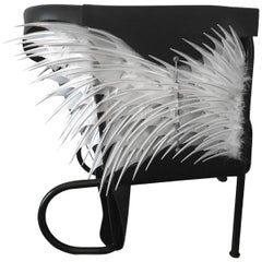 Club Chair, Accoutre No.2, Leather and Feather Armchair