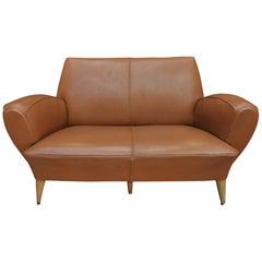 Club Leather Sofa by Erton Paris, circa 1950