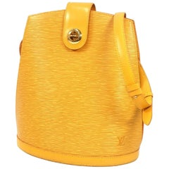 Cluny  Womens  shoulder bag M52259  yellow Leather