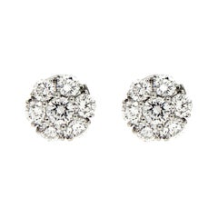 Valentin Magro Platinum Diamond Cluster Earrings