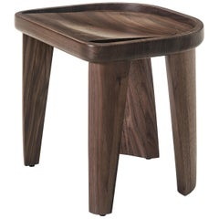 Cluster Stool in Carved, Solid Wood by Craig Bassam