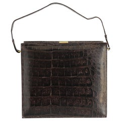 Clutch Vintage Alligator Leather Bag