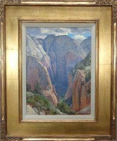 Zion Landscape Oil Painting by Clyde Aspevig West Rim Trail