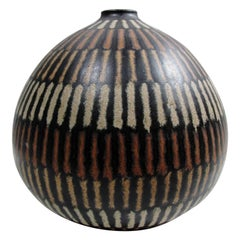 Clyde Burt Ceramic Bulbous Vase