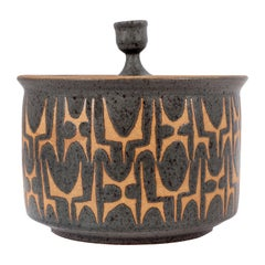 Clyde Burt Ceramic Jar with Lid