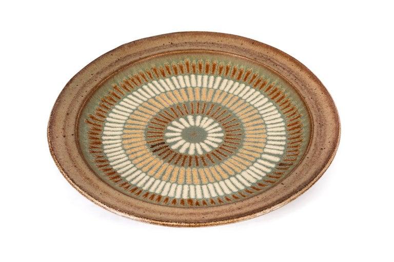 Mid-Century Modern Clyde Burt Ceramic Platter For Sale