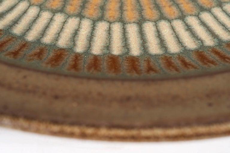 Glazed Clyde Burt Ceramic Platter For Sale