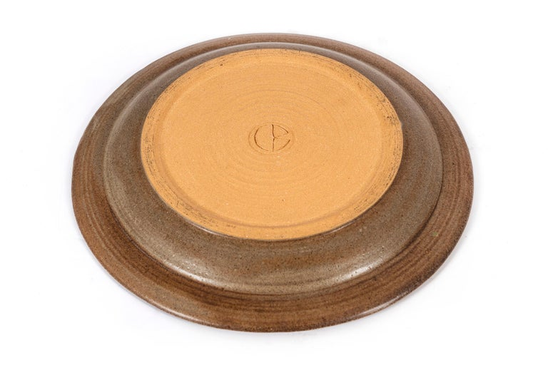 Clyde Burt Ceramic Platter In Excellent Condition For Sale In Chicago, IL