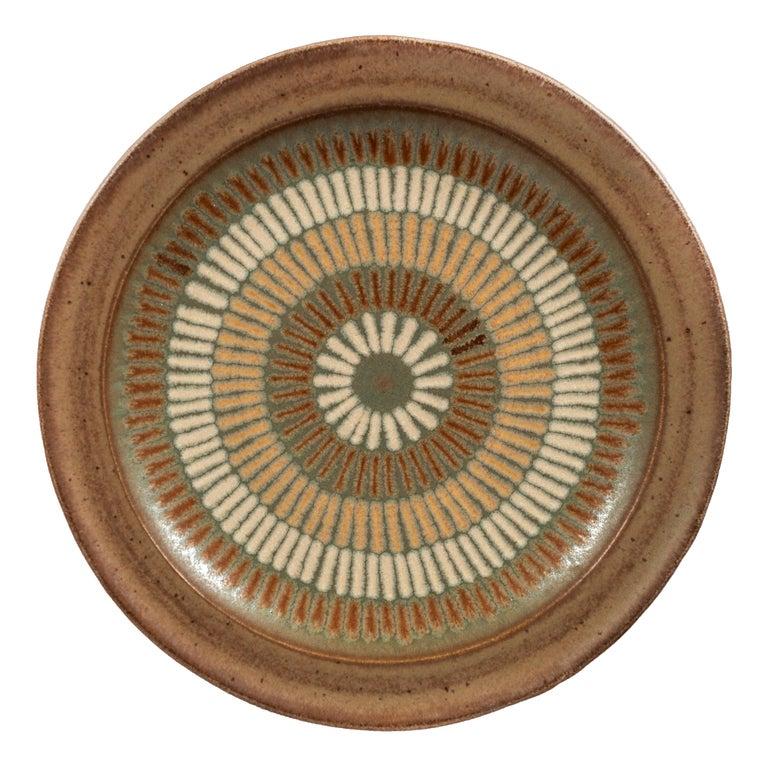 Clyde Burt Ceramic Platter For Sale