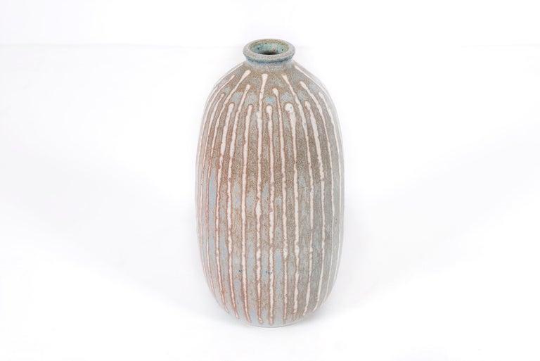 Mid-Century Modern Clyde Burt Ceramic Vase For Sale