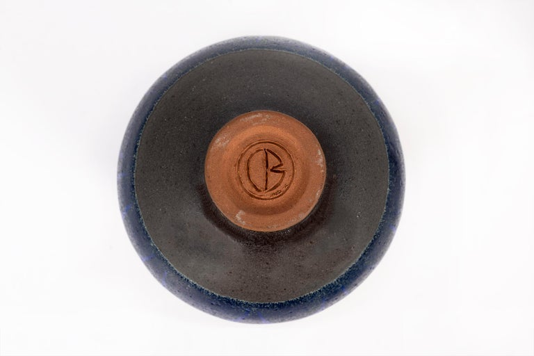 Glazed Clyde Burt Ceramic Vase For Sale