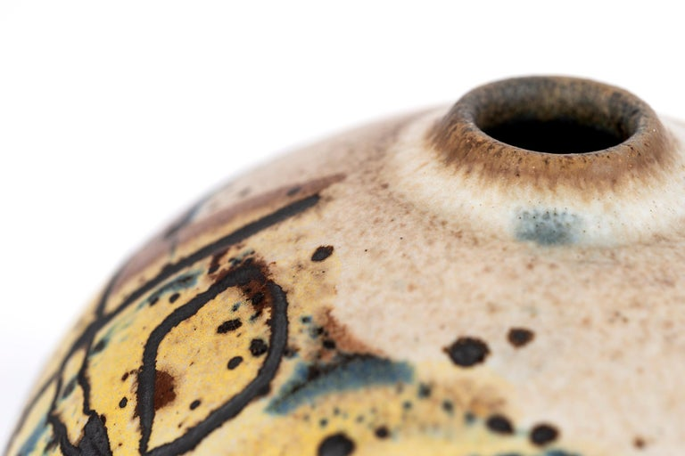 Glazed Clyde Burt Ceramic Vessel For Sale