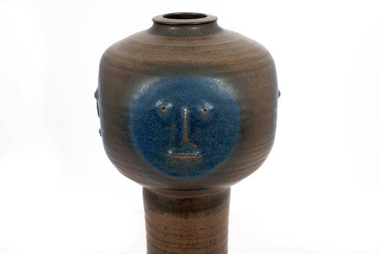 American Clyde Burt Face Vase For Sale
