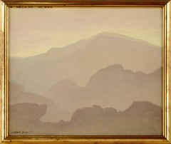 """""""Mountain Mist"""" - Mid Century Modern Landscape"""