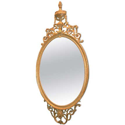 George III Oval Mirror, ca. 1790