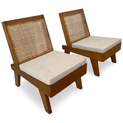 Pierre Jeanneret Folding Chairs, 1960