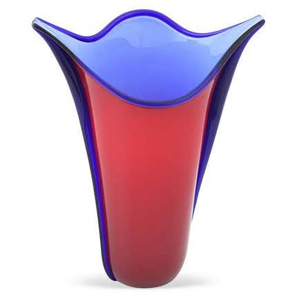 Toni Zuccheri Murano Glass Vase, 1983