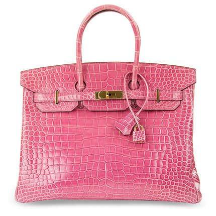 Hermès Pink Porosus Crocodile Birkin, 21st Century