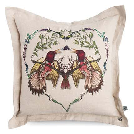 Timorous Beasties Lovebirds Cushion, 21st Century