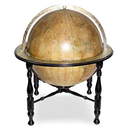 Large Terrestrial Library Globe, ca. 1890