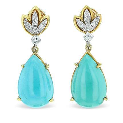 Tiffany & Co. Screw-Back Drop Earrings, 20th century