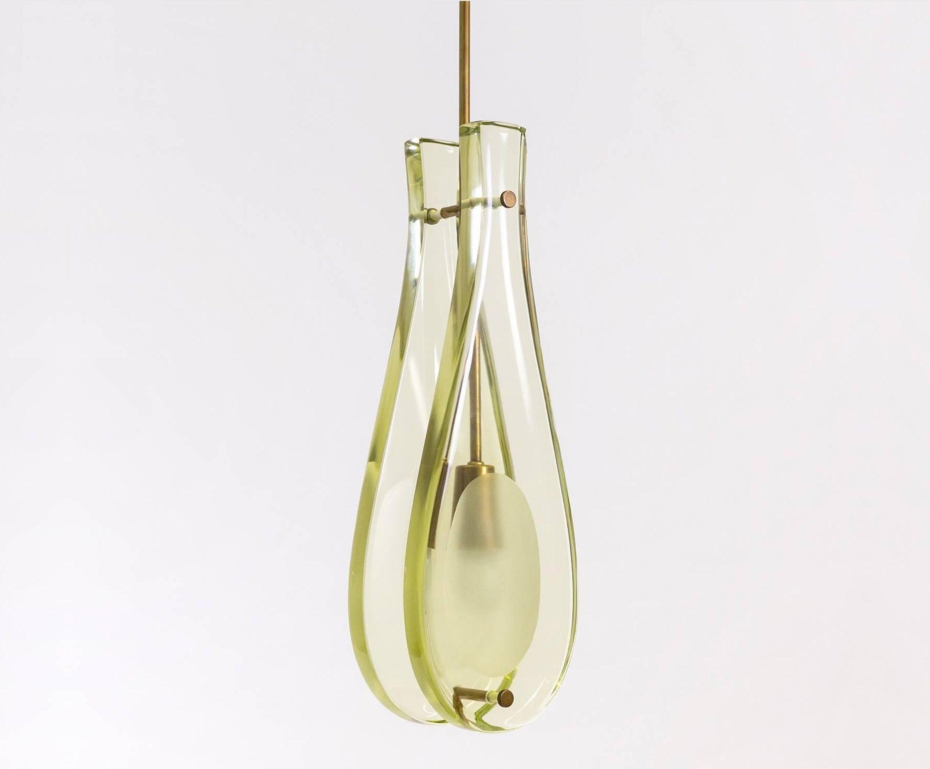 Glass Drop Pendant Model 2259