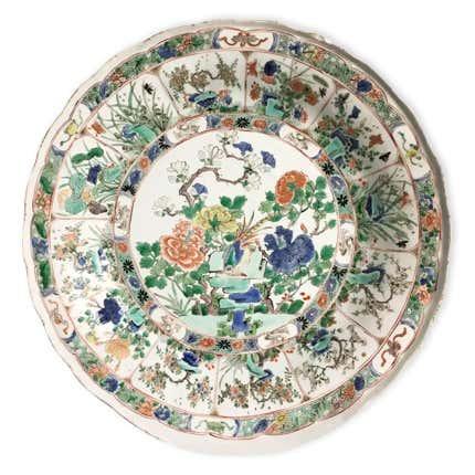Kangxi Period Famille Verte Porcelain Dish, ca. 1700