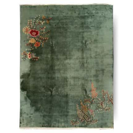 Chinese Art Deco Wool Rug, 1920