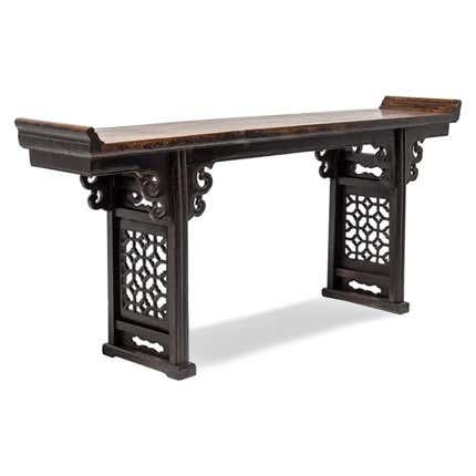 Chinese Plum Lattice Altar Table, ca. 1850