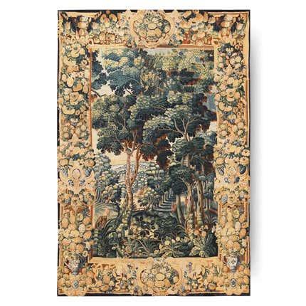 French Verdure Scene Tapestry, 18th Century