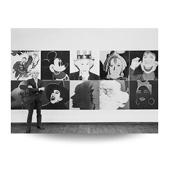 Robert Levin, Andy Warhol at R. Feldman Gallery with Myths, 1981